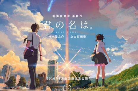 据日媒报道,动画电影《你的名字》8月26日上映后,28天内票房突破100